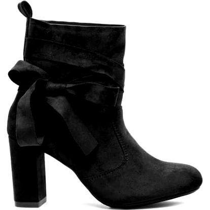 Dámské černé kotníkové boty Contesa 1073