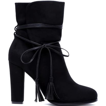 Dámské černé kotníkové boty July 1100