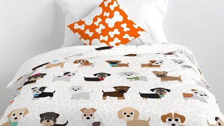 Mr. FOX Dětské povlečení Dogs, 140x200 cm