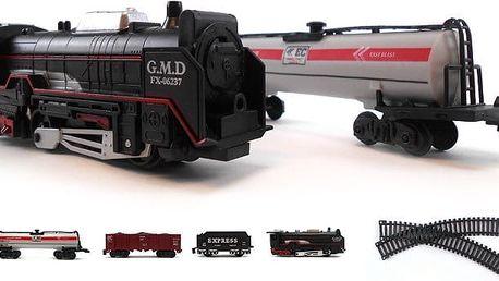 Vláček Speedy train včetně vagónů a kolejnic