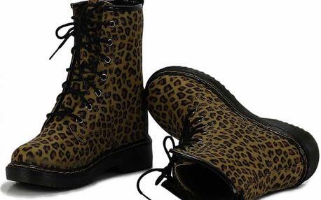 Dámské leopardí kozačky Rebel 112