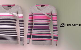 Dámské pruhované svetry Alpine Pro