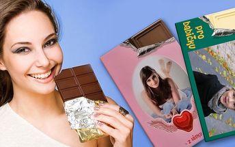 Belgická čokoláda s vaší vlastní fotografií