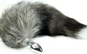 kovový anální kolík s ocasem artické lišky