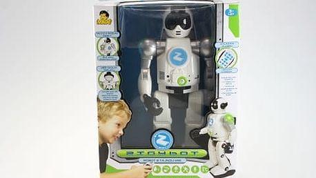 Robot Zigy černý rozpoz hlasy na dálkové ovládání
