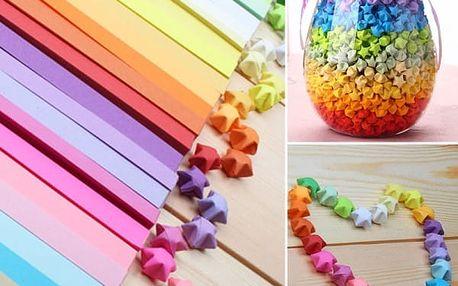 Origami proužky ke složení hvězdiček pro štěstí - poštovné zdarma
