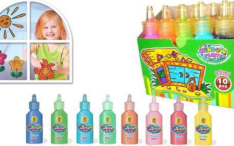 Sady slupovacích barviček na sklo