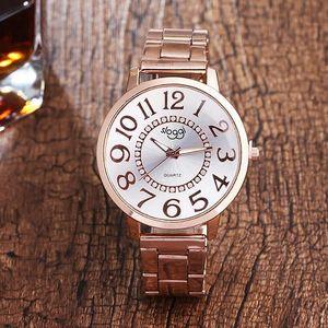 Dámské hodinky s velkým ciferníkem a čísly