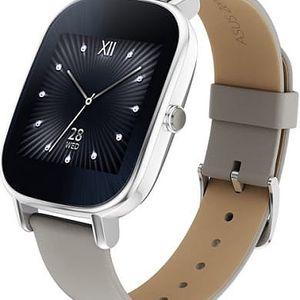 Chytré hodinky Asus ZenWatch 2 Wren (WI502Q) (90NZ0031-M00720) stříbrné/khaki