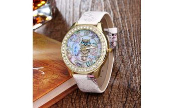 Bohémské hodinky se sovou