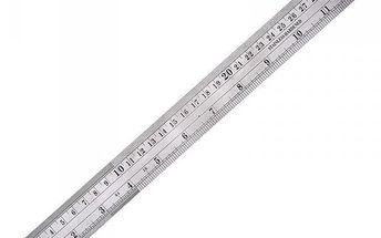 Kovové pravítko s převodní tabulkou - 30 cm