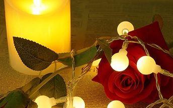 Svítící LED řetěz s jednoduchými světýlky - více barev