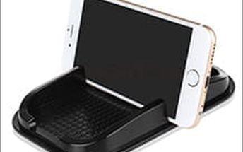 Protiskluzová nano podložka s držákem. Už nemusíte hledat mobil nebo klíče na podlaze vozu.