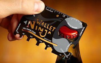 Praktická ocelová multifunkční karta nářadí 18 v 1 Wallet Ninja