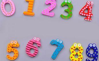 Sada vzdělávacích dřevěných magnetů - čísla