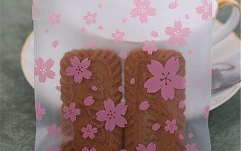Sáčky s květovaným vzorem - 100 kusů