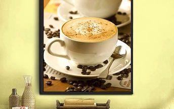 Sada pro výrobu vlastního obrazu - šálky kávy - 30 x 40 cm