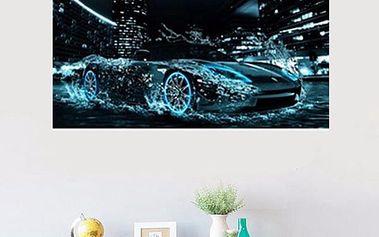 Sada pro výrobu vlastního obrazu - auto ve vodě - 30 x 46 cm