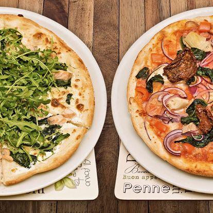 2 pizzy a 2 nealko nápoje v restauraci Vabene