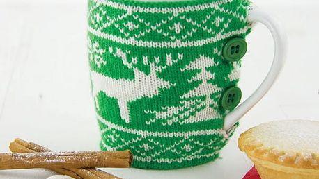 Vánoční hrnek v pleteném obalu