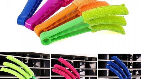 Pomůcka na čištění žaluzií - 4 barvy
