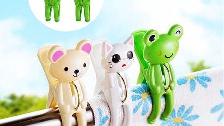 Roztomilé plastové kolíčky žabičky - 2 ks