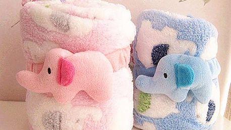 Roztomilá dětská deka se vzorem slona