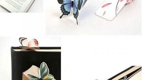 Záložky do knih s motýlkem - 5 kusů