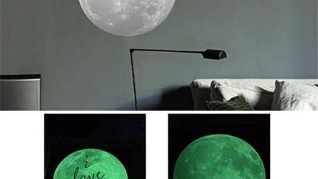 Fluorescenční samolepka - Měsíc
