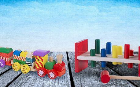 Dřevěné hračky pro trénink motoriky i fantazie