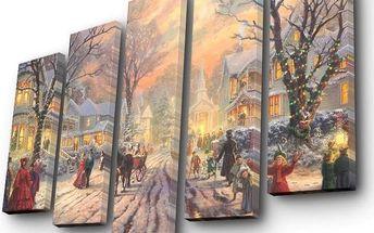Pětidílný obraz Winter City
