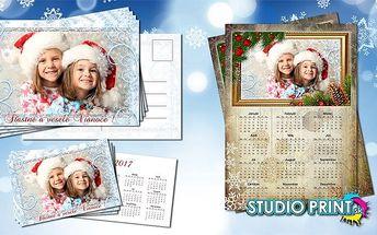 Vánoční set kalendářů a pohlednic s vlastní fotografií