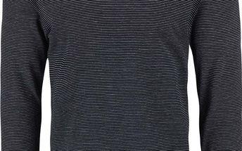 Tmavě modré pruhované triko s dlouhými rukávy Selected Homme Sebastian