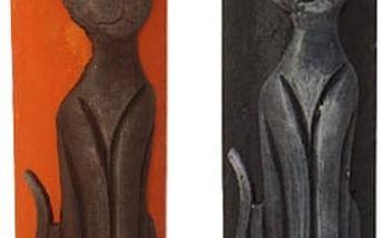 Nádherná velká dekorační svíčka s motivem kočky. Na výběr ze dvou barev.