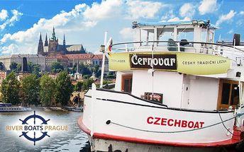1–3hodinová plavba Prahou po Vltavě s možností rautu pro jednu osobu