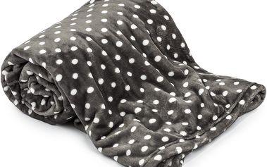 Extra měkká a jemná deka s puntíkovým vzorem, 150 x 200 cm