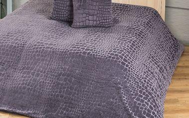 Přehoz na postel z hebkého mikrovlákna, 220 x 240 cm
