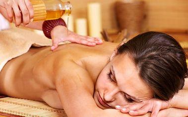 30 až 60min. masáž šíje, zad, ramen a plosek nohou s olejíčkem dle výběru