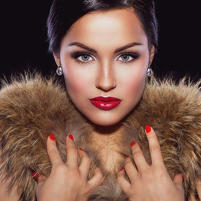 Permanentní make-up: spodní nebo horní oční linky, 3D vláskování či make-up rtů na 60 minut