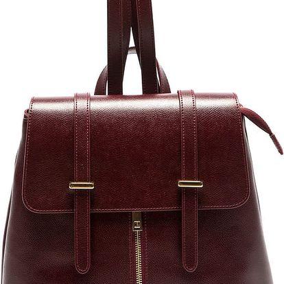 Vínový kožený batoh Sofia Cardoni Noemi - doprava zdarma!