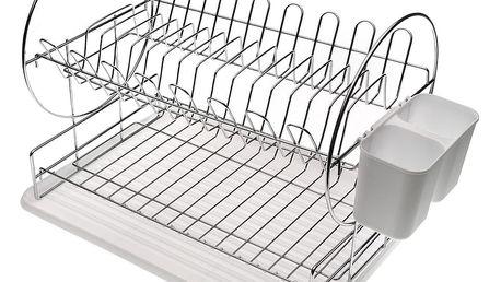 Bílý odkapávač na nádobí Versa Escurre