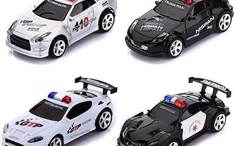 RC policejní autíčko na dálkové ovládání - 4 barvy a 4 frekvence