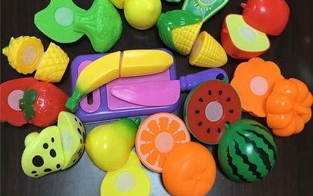 Dětský set plastového ovoce a zeleniny - 9 ks - poštovné zdarma
