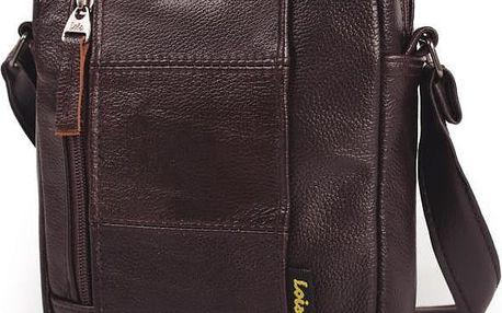 Kožená pánská taška přes rameno LOIS no. 919, hnědá