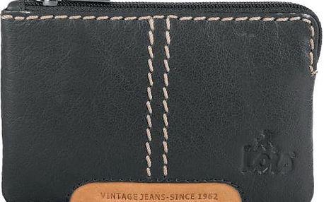 Pánská kožená peněženka na mince LOIS no. 502, černá