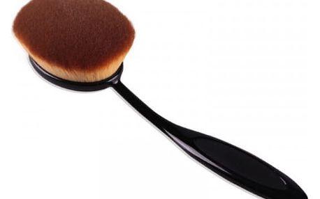 Oválný kosmetický štětec na aplikaci make-upu - dodání do 2 dnů