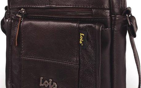 Kožená pánská taška přes rameno LOIS no. 923, černá