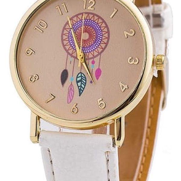 Dámské hodinky s barevným lapačem snů