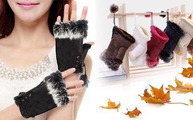 Úžasné rukavičky s pravým kožíškem