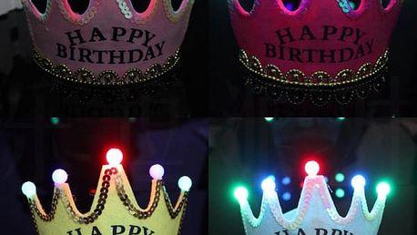 Svítící narozeninová korunka - Happy birthday